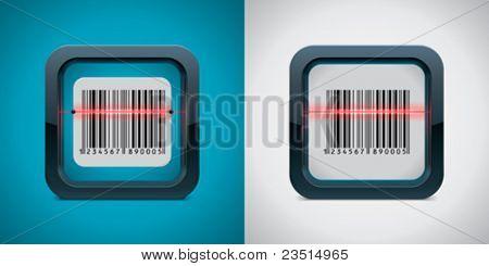Vector ícone do varredor de código da barra