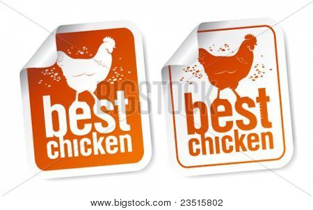 Best chicken meat stickers set