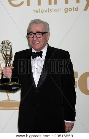 LOS ANGELES - SEP 18:  Martin Scorsese in the Press Room at the 63rd Primetime Emmy Awards at Nokia Theater on September 18, 2011 in Los Angeles, CA