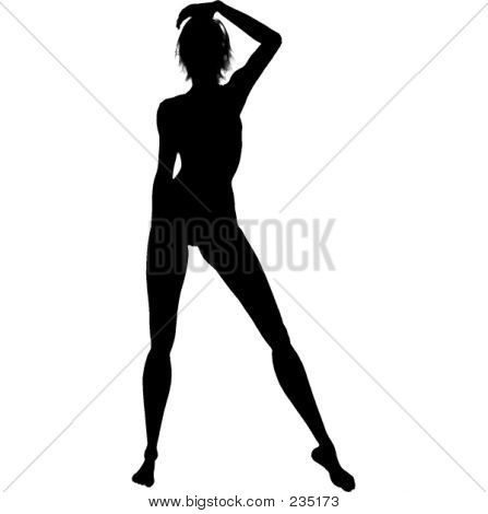 Sexy Woman Silhouette | Stock photo. download preview