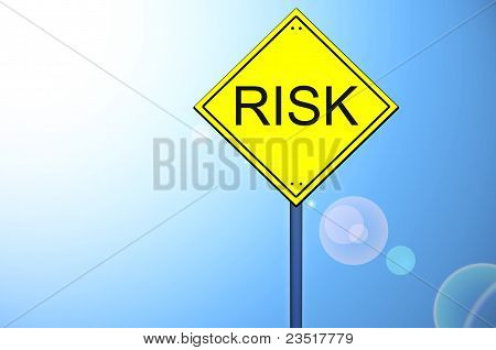 Risk On Road Sign