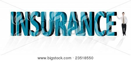 Insurance Word And Business Man