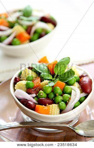 Bean & pea salad