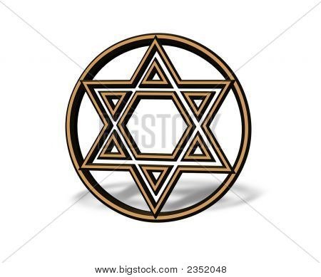 3D Hanukkah Or Bar Mitzvah Jewish Star Of David