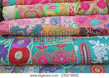 Bright Colored Fabrics India Ornaments