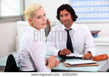 Woman applying for new job