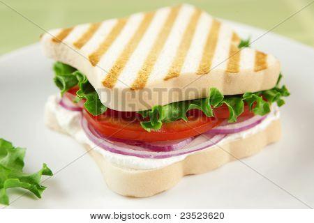 Gluten free vegetarian sandwich.