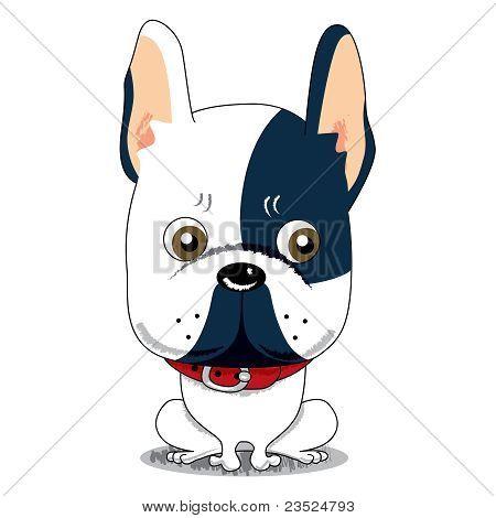 法国斗牛犬卡通头像