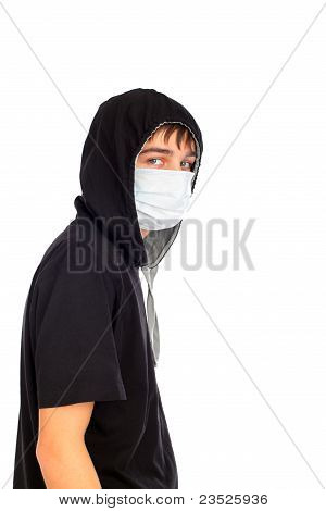 Teenager In Mask