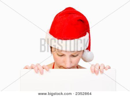 Santa Girl With Whiteboard