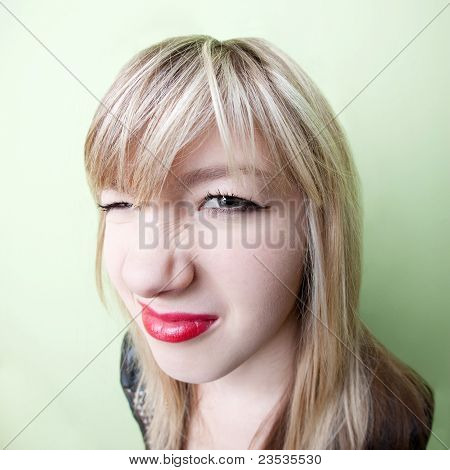 Girl With Wrinkled Nose