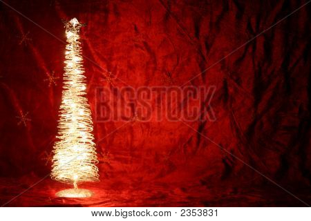 Brightly Lit Christmas Tree