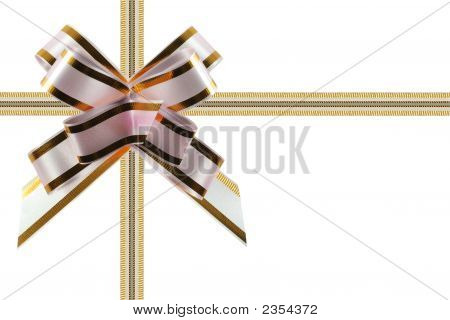 Congratulatory Ribbon White - Pink