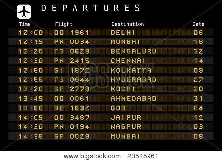Salidas del aeropuerto - India