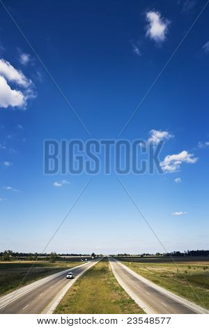 Divided Road & Blue Skies