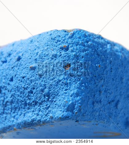 Blue Wax Candle
