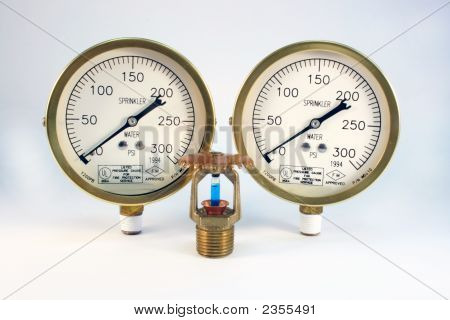Sprinkler Head And Gauges