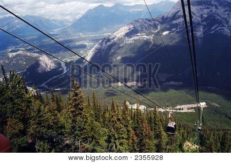 A Gondola In Banff Canada