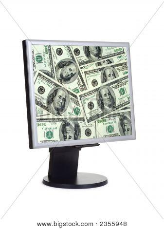 Money On Computer Screen