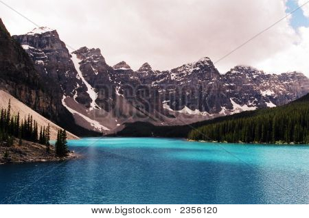 The Beautiful Morraine Lake Alberta Canada