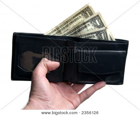 Hand, Wallet, Dollars