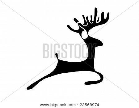 Deer silhouettte