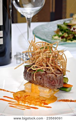 Plated Filet Mignon