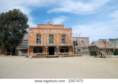 Saloon And Gallow In An Old American Town