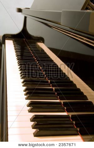Keyboard Of A Baby Grand Piano