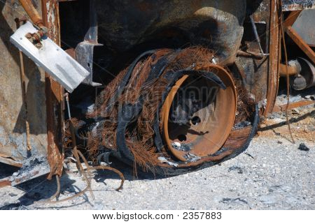Wreck Of A Burned Down Bus