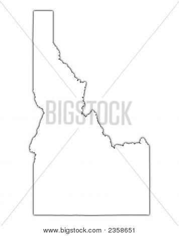 Idaho (Usa) Outline Map With Shadow