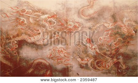Ancient Painting Of Dragon