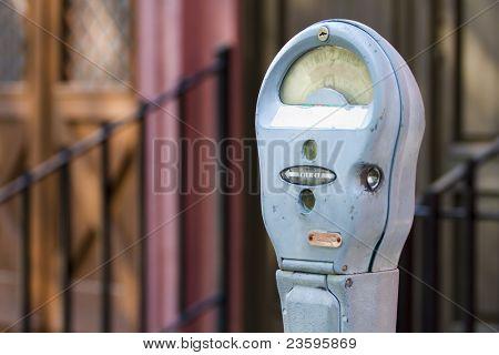 vintage parking meter