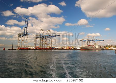 Port of Auckland, container yard