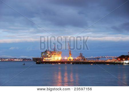 Devenport harbor in morning, Auckland, New Zealand