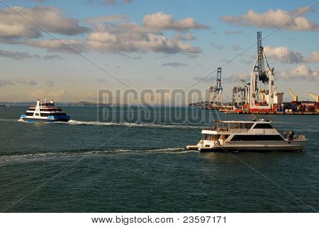 ferry in Auckland harbor, New Zealand