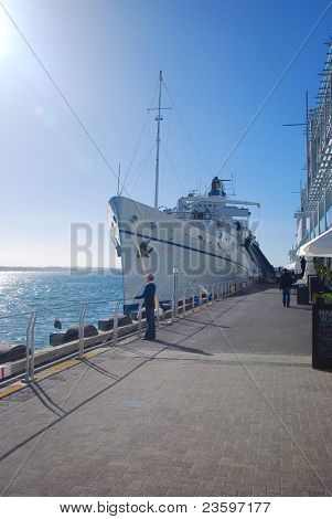 Yacht parking at Prince wharf, Auckland, New Zealand