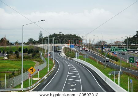 Auckland North Shore bus way, New Zealand