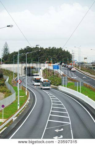 Auckland North Shore bus way, New Zealand