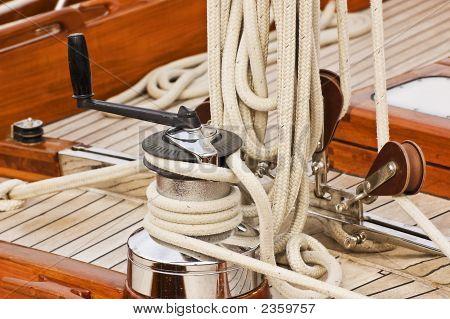 Winch Rope And Pulleys