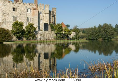 Picturesque English Castle On A Sunny Autumn Day