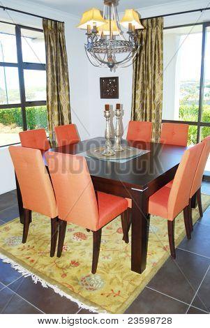 dinning room with elegant furniture