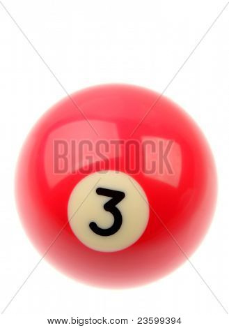 Pool ball isolated over plain background