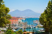 Napoli Bay (naples Bay), Vesuvius Volcano. Beautifull Seascape, Beautiful Panorama, Italy. poster