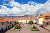 San Blas Square Cusco Is Located In Cusco, Peru poster