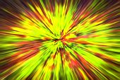 Psychedelic Hypnotic Unrealistic Abstract Speedy Yellow Green Red Background, Motion Blur Effect, Zo poster