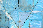 Blue Wall Texture With Cracked Structure.wall Texture Grunge Background With A Lot Of Copy Space. Ab poster