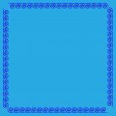 Frame Blue. Color Framework Isolated On Light Blue Background. Decoration Concept. Modern Art Scoreb poster