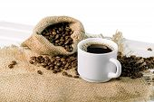 Coffee Break Hot Coffee Color Break Background Morning Natural poster