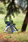 Outdoors Christmas Tree Decoration poster